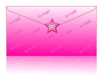Avvolga ed invii con la posta elettronica il simbolo Fotografie Stock Libere da Diritti