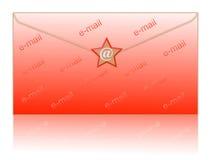Avvolga ed invii con la posta elettronica il simbolo Immagini Stock
