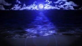 Avvolgimento di Wave sulla riva Concetto di lusso di vacanze estive Isola con l'acqua di mare blu Animazione del ciclo illustrazione vettoriale