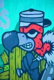 Avvoltoio di Montreal di arte della via Fotografia Stock