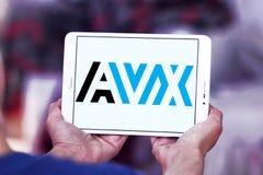 AVX Korporation logo arkivbild