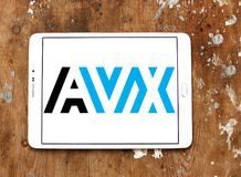 AVX Korporation logo royaltyfri foto