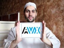 AVX Korporation logo arkivfoton