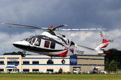 AW169 Agusta Heli. Farnborough Airshow 2014 UK, Heli Royalty Free Stock Image