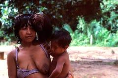 Awa indio nativo Guaja del Brasil Imagenes de archivo