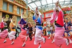 Awa Odori Dance Performance at Resorts World Sentosa, Singapore stock photo