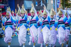 Awa Odori festival in Tokyo Japan stock photos