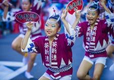 Awa Odori festival in Tokyo Japan royalty free stock photo