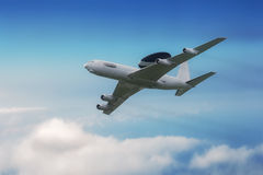 AWACS aircraft in flight Royalty Free Stock Photo