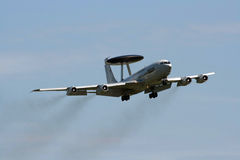 AWACS fly by Stock Photos