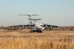 AWACS radar airplane Royalty Free Stock Photo