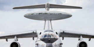 AWACS radar airplane Stock Photo