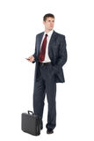 Awaiting a handsome young businessman Royalty Free Stock Images