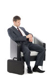 Awaiting a handsome young businessman Royalty Free Stock Photo