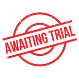 Awaiting Trial rubber stamp. Grunge design with dust scratches. Effects can be easily removed for a clean, crisp look. Color is easily changed Royalty Free Stock Photo