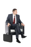 Awaiting young businessman Royalty Free Stock Image
