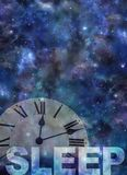 Awake past 12 Insomnia Background Stock Photo