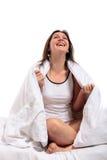 Awake young woman Stock Image