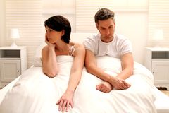 Awaked couple Stock Image