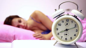 Awakening with alarm clock Stock Image