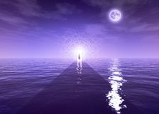 Awakening or Enlightenment Path. Spiritual Awakening or Enlightenment Path is great background image for any spiritual purposes. Like; Meditation Visual or royalty free illustration