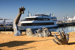 The Awakening Sculpture Washington National Harbor Royalty Free Stock Photography