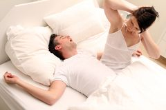Awaking couple Stock Image