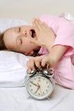 Awaking girl Stock Image