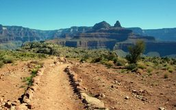 AWalk in the Park. A walk in the Park, South Kaibab Trail, Grand canyon national park, arizona Royalty Free Stock Photo