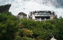 Awana手段巴厘岛著名岩石酒吧  库存照片