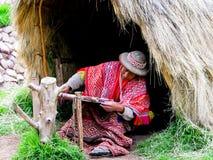 Awana Kancha Llama Farm in Peru Stock Images