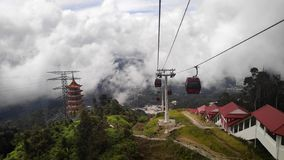 Awana SkyWay aux montagnes de Genting, Malaisie photos stock