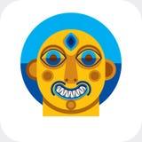 Awangardowy avatar, osobowości twarz tworząca w kubizmu stylu Mo Obraz Stock