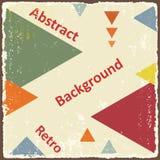 awangardowy retro trójboka tło wektor Fotografia Royalty Free