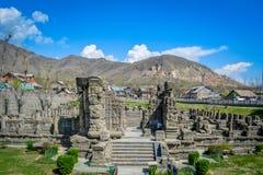 Awantipura ruiny, Pahalgam, Kaszmir fotografia stock