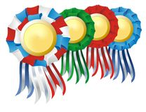Award as rosette set Royalty Free Stock Photos
