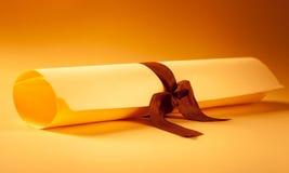Award. Diploma scroll scholarly scholar reward university Stock Image