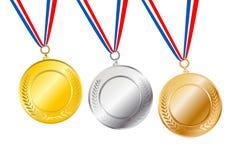 Award Badge. 3 variation award badge ribbon on gradient background - vector royalty free illustration