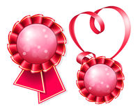 Award badge and ribbon Royalty Free Stock Photos