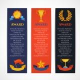 Award banner set Stock Photography