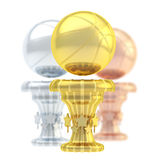 Award basketball sport trophy cup Royalty Free Stock Photography