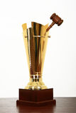 Award for best judge. And justice Stock Photo