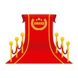 Award big red carpet Stock Photography
