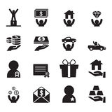 Award for businessman icons set Royalty Free Stock Image