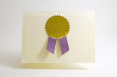 Award card. With copy space Royalty Free Stock Photo