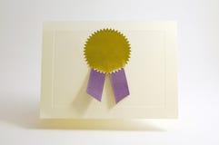 Award card Royalty Free Stock Photo