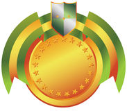 Award Crest. Award banner whit shield, crest badge vector illustration