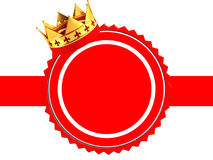 Award with crown Stock Image