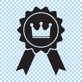 Award with crown and ribbon icon. Best choice symbol. Vector illustration. Award with crown and ribbon icon. Best choice symbol. Vector illustration EPS8 stock illustration