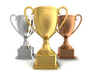 Award cups concept 3d illustration Stock Image